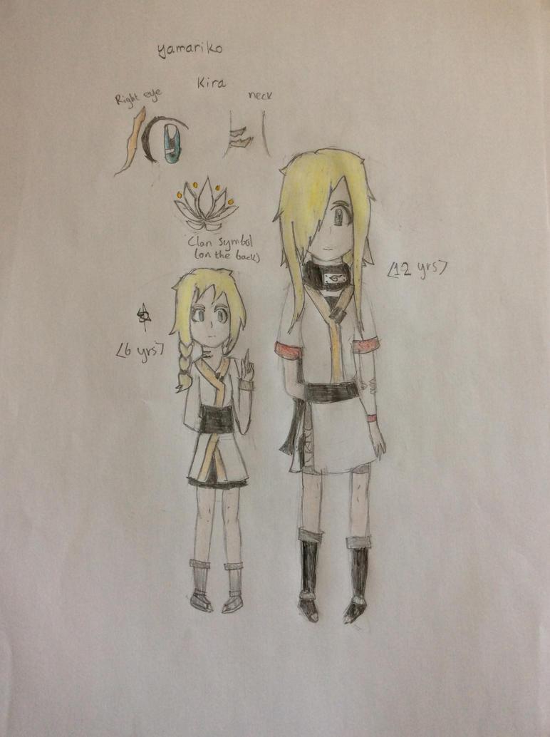 Kira Yamariko (Colored skecthes) Naruto OC by SpringElizabeth