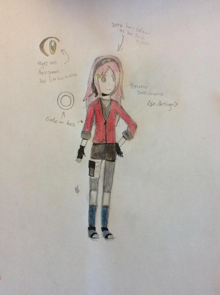 Sakuhana Haruno (Re-Design) by SpringElizabeth