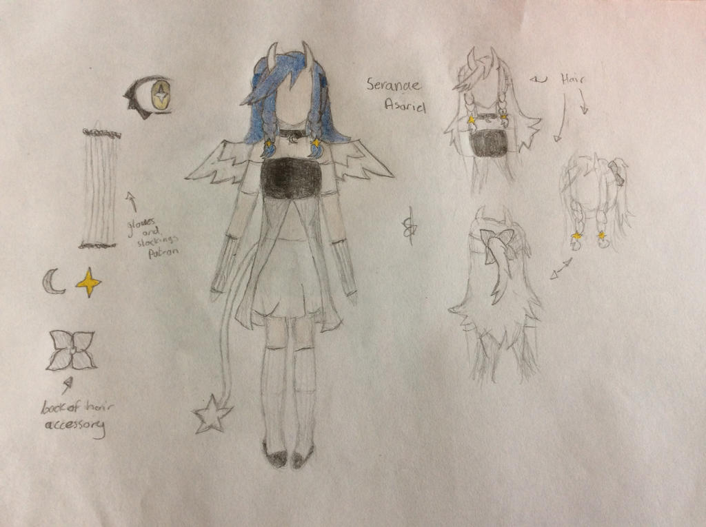 Seranae Asariel OC reference by SpringElizabeth