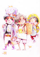 Sabo,Ace,Luffy by faQy