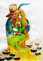 tom bombadil and goldberry by faQy