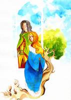 Faramir and Eowyn by faQy