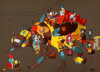 trolley bug by faQy