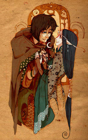Aragorn and Arwen by faQy