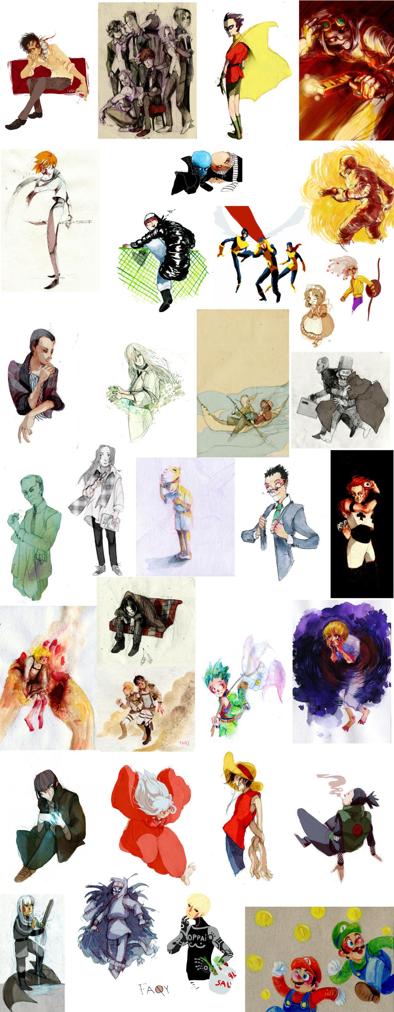 fan-art things by faQy