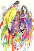 Kitsune and Tanuki by faQy