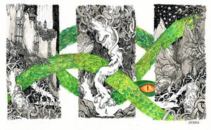 the roots of Yggdrasil