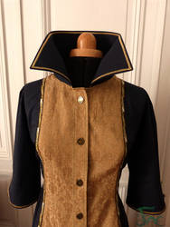 Corsair jacket front with collar up 2 by Herilome