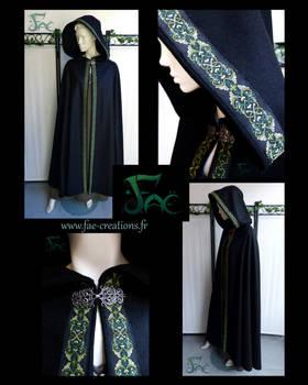 Forest Black Cloak