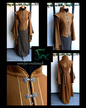 Noble fantasy coat with embroidery