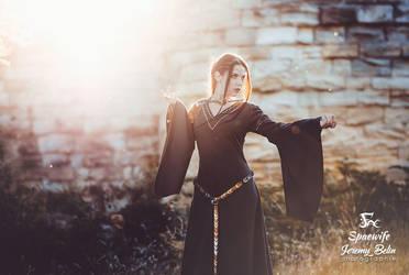 Medieval fantasy dress (2) by Herilome