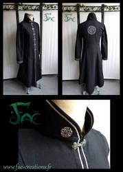 Alchemist black silver robe