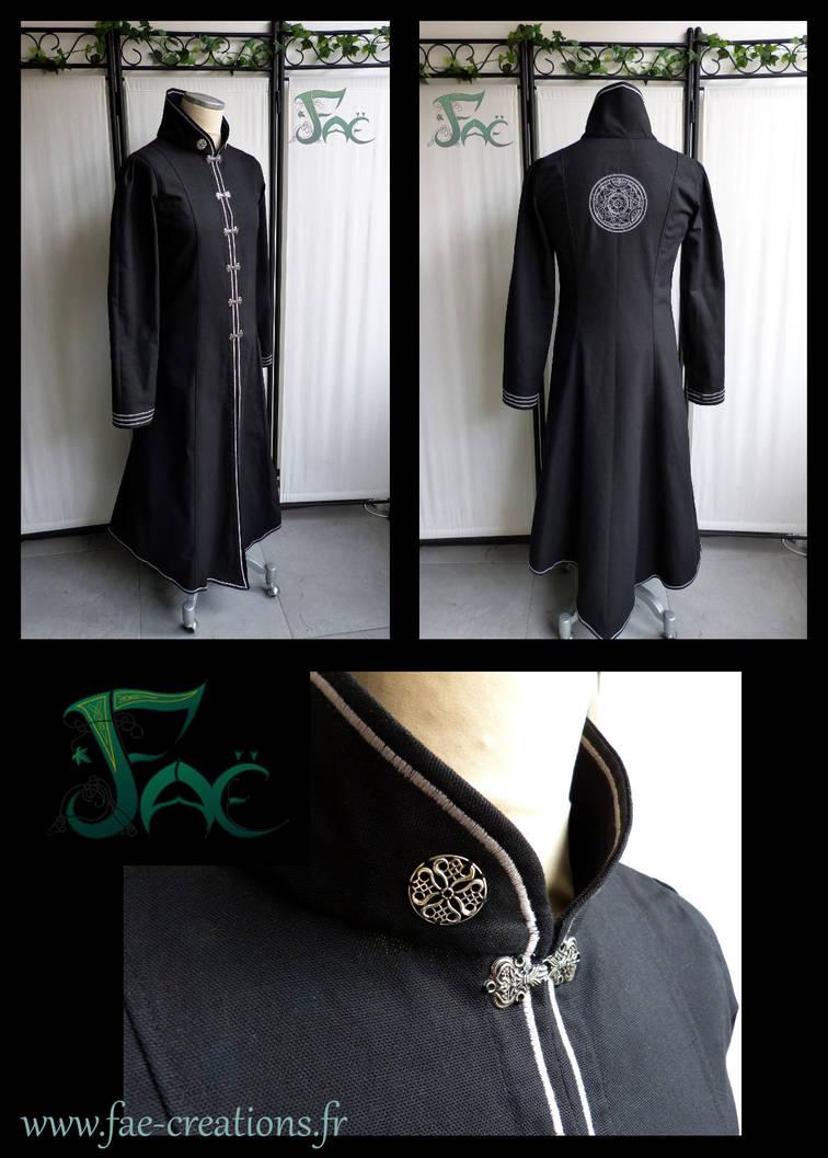 Alchemist black silver robe by Herilome