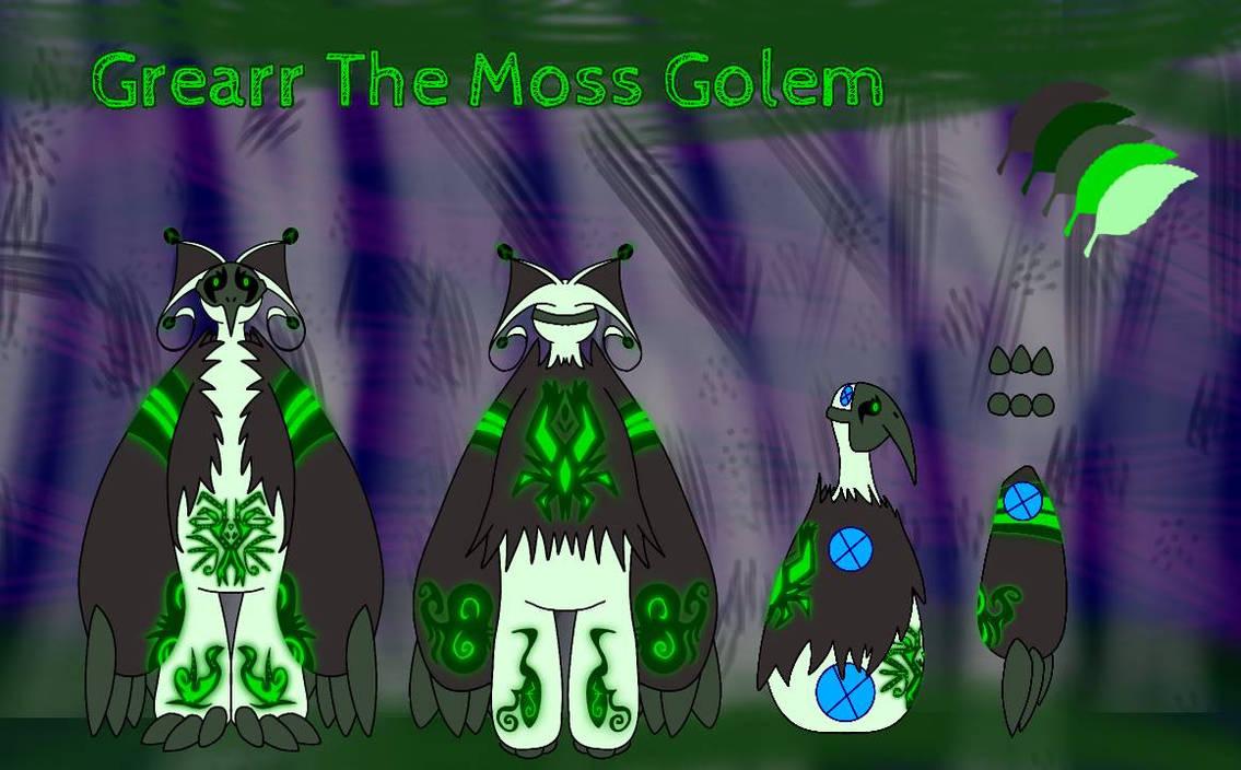 Grearr The Moss Golem Ref Sheet By Lunercat1 On Deviantart