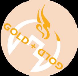 Gold and Gold Logo (Draft 9) Statistic Dragon