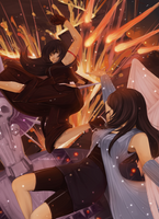 ROUND 2: Rinoa vs Tifa by aeriim