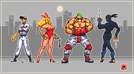 Pixel Dailies 09-10 Streets Of Rage X4