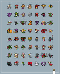 20x20 Tiny Characters by TRUEvector