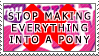 Anti-Ponification Stamp by Scattered-Stamps
