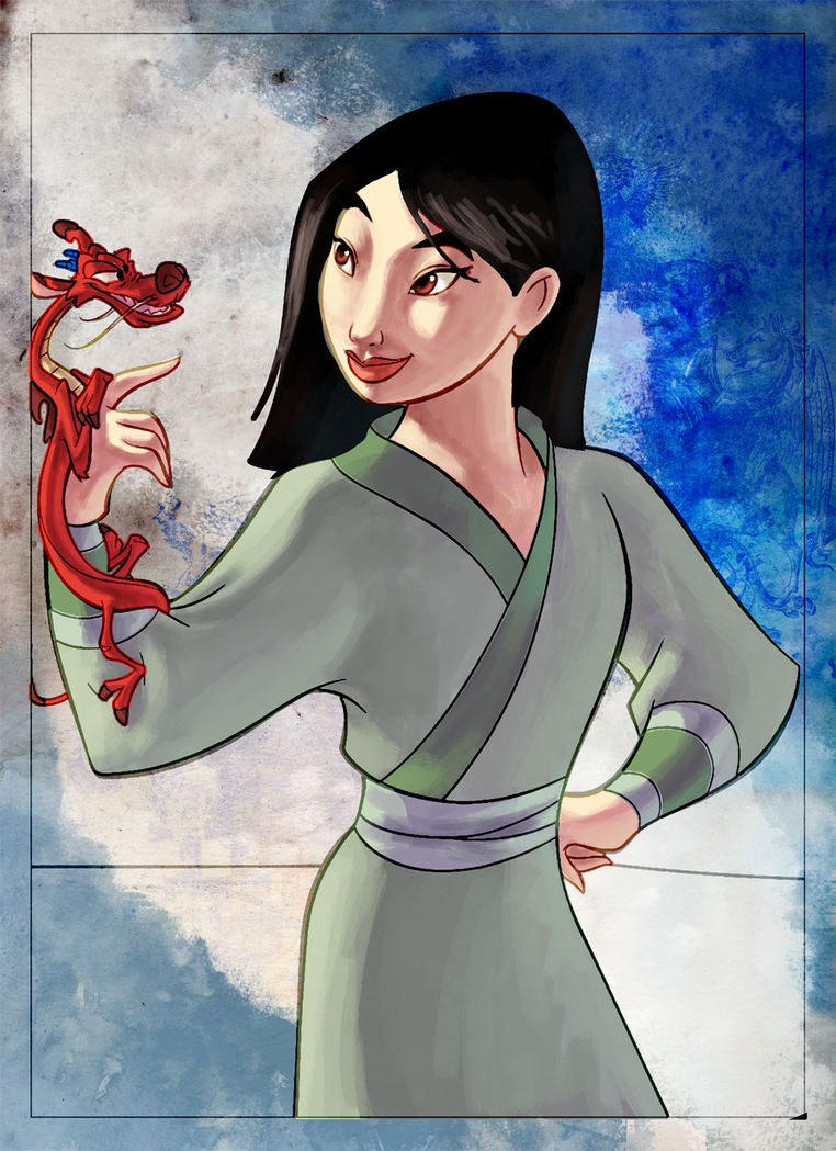 coloring book page - mulan i by naima on DeviantArt