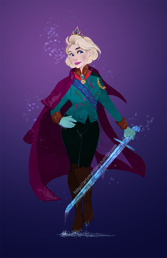 pretty soldier queen elsa by naima