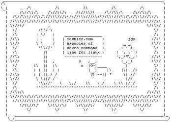 boxes and cowsay to create ASCII art by mewbies