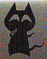 Mewbies Ansi Photo Mosaic By Metapixel by mewbies