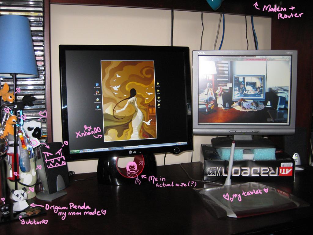 My desk has Dual-Monitor POWAH