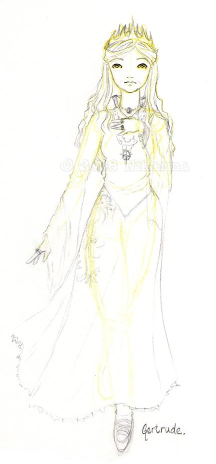 Hamlet: Gertrude Sketch by Nikarma