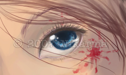 Some Blood and an Eyeball WIP by Nikarma