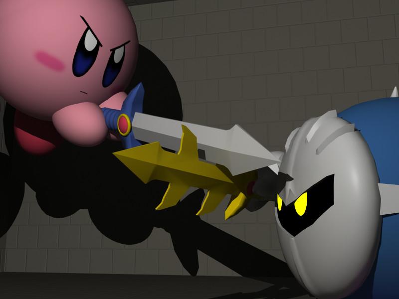 Kirby vs Meta Knight by spacepig22 on DeviantArt