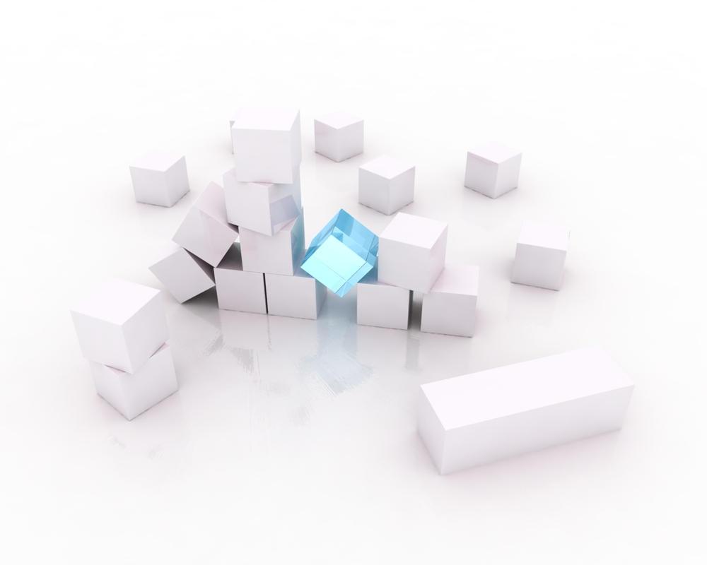 Cubes Wallpaper by Homogeneous