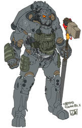 X-01 tactical power armor by obokhan