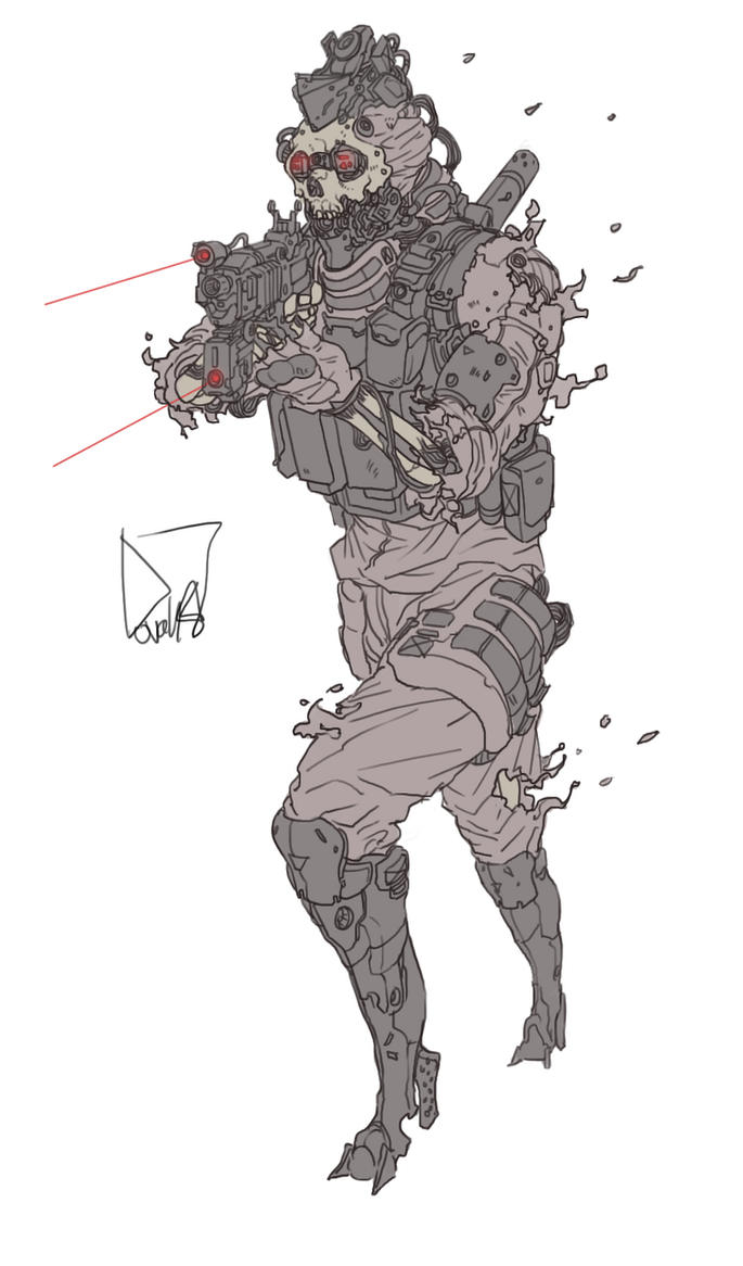 argentina skull soldier by obokhan