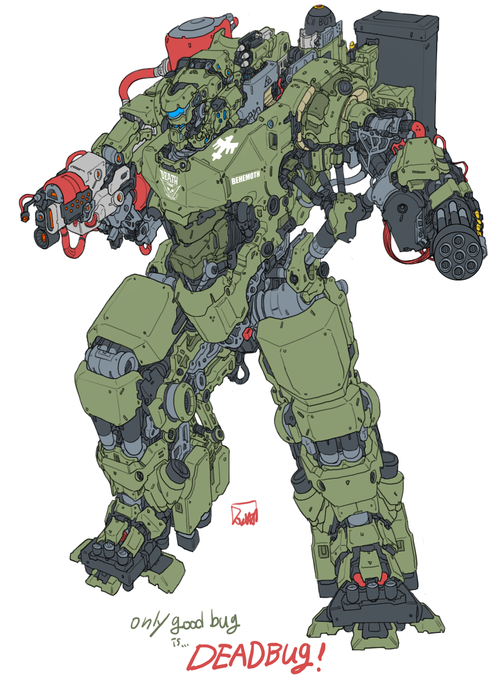starship troopers marauder suit by obokhan on DeviantArt