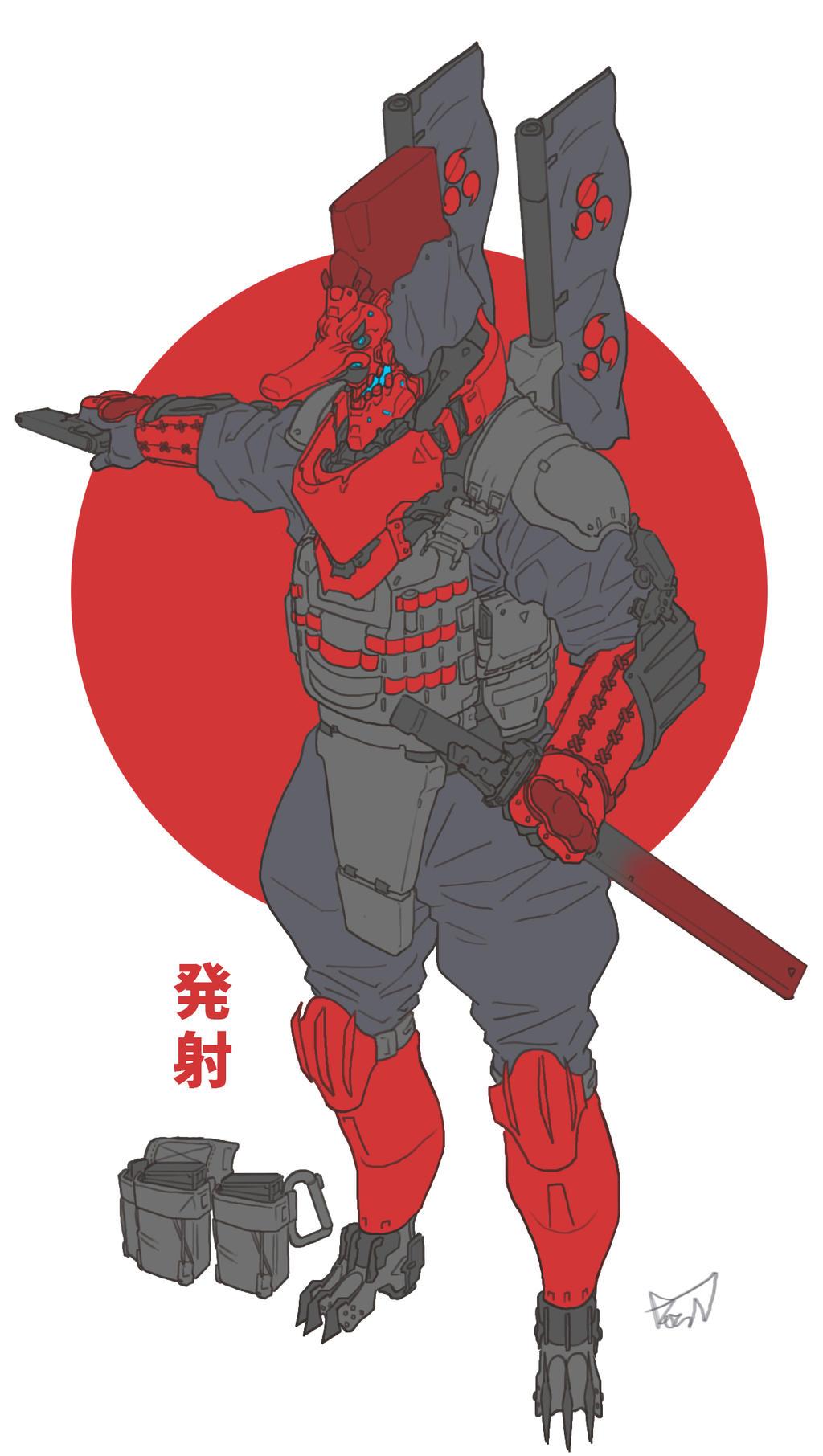 Commander Tengu by obokhan