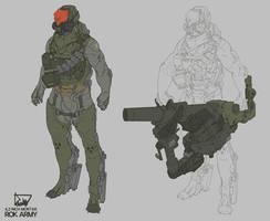 KOREA ARMY - MORTAR by obokhan