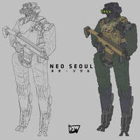 Korea armed force Droid by obokhan