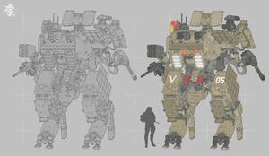 Mass production Armored walking Tank by obokhan