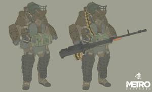 Metro heavy armored soldier