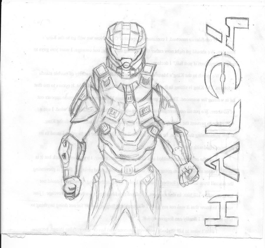 Halo 4 Coloring Pictures Master Chief From By Iloveanime2much On DeviantArt
