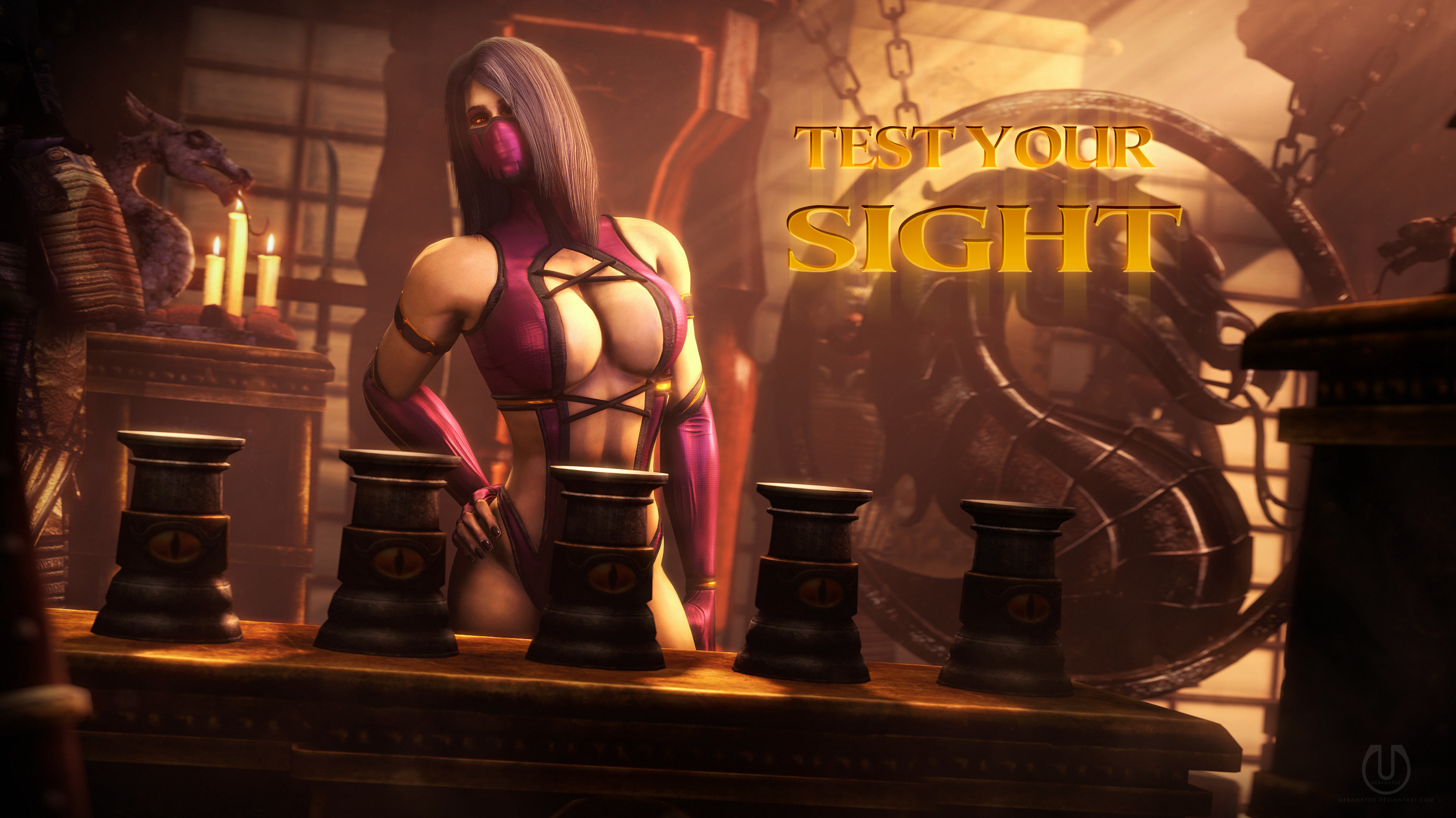 Testing Your Sight with Mileena 1 by Urbanator