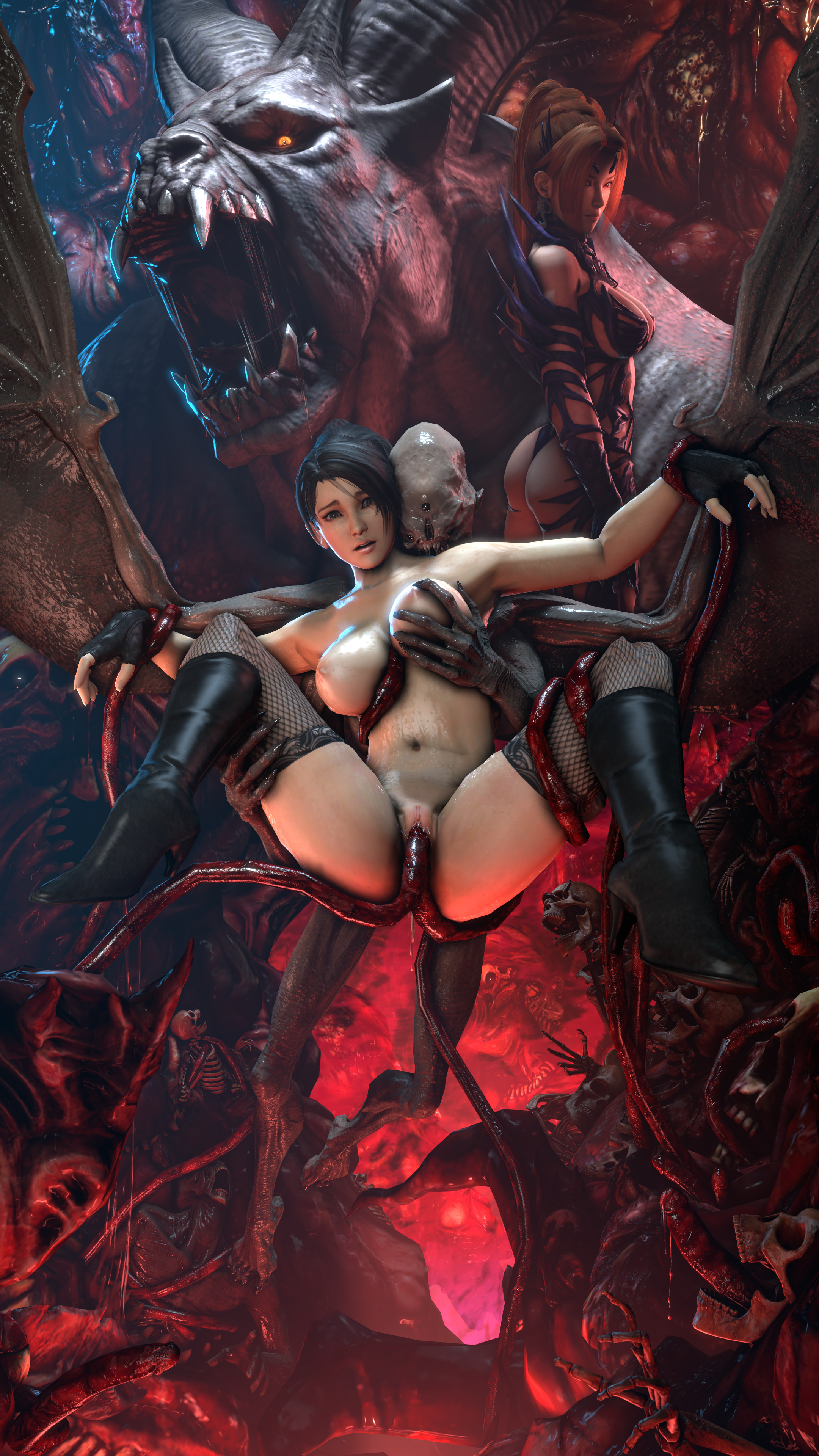 3d hentai sfm futanari starfire and raven fuck 2