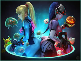 Zero Suit Samus and Widowmaker