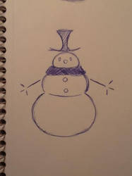 Snowman for the summer