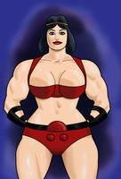 Jack Kirby's Big Barda by darrellsan