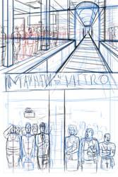 Mayhem in the Metro  Page One by darrellsan