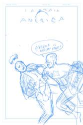 Capt America Sketch by darrellsan