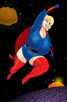 Blonde Marvel In Space by darrellsan