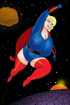 Blonde Marvel In Space